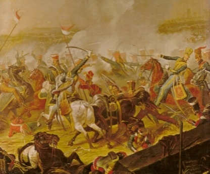 detail Battle of Waterloo by Dennis Dighton