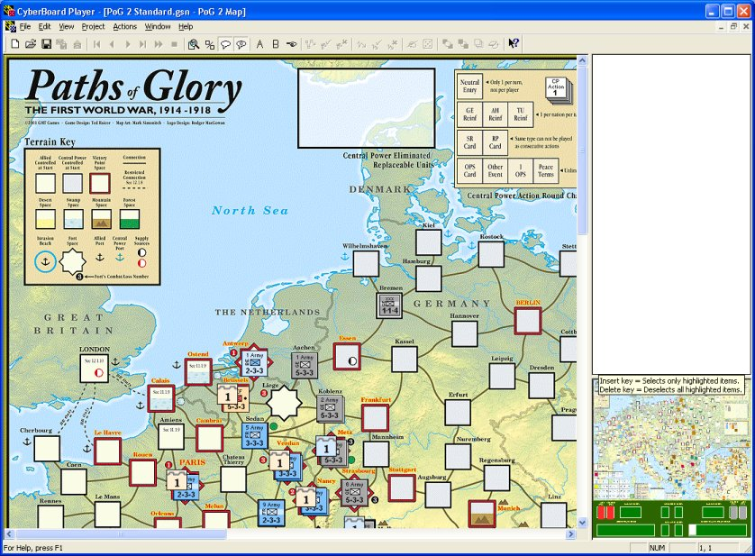 Cyberboard Paths of Glory gameboard